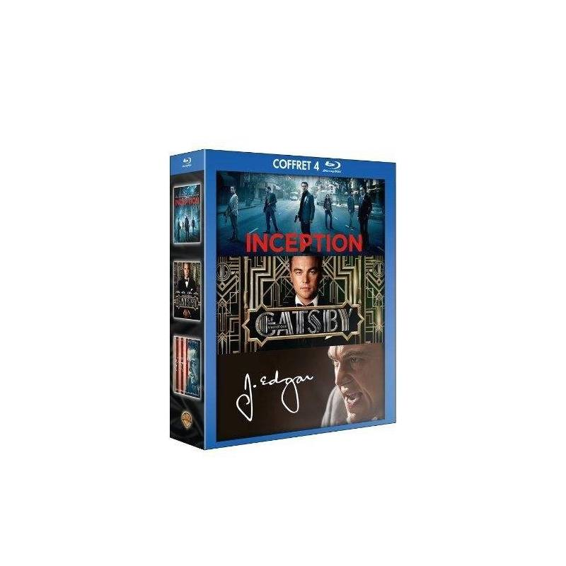 BOX LEONARDO DICAPRIO - INCEPTION + GATSBY THE MAGNIFICENT + J. EDGAR [BLU-RAY]