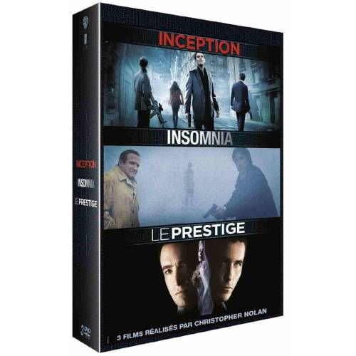 Blu-ray - CHRISTOPHER NOLAN : INCEPTION + INSOMNIA + LE PRESTIGE
