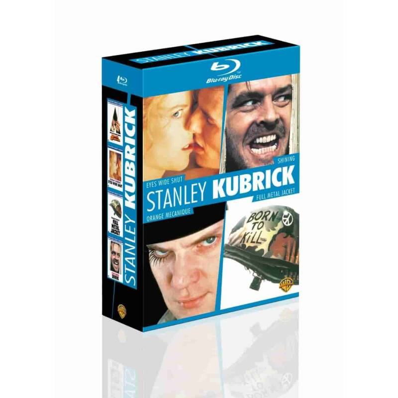 Blu-ray - Coffret Stanley Kubrick : Eyes Wide Shut + Shining + Orange mécanique + Full metal jacket (Blu-ray)