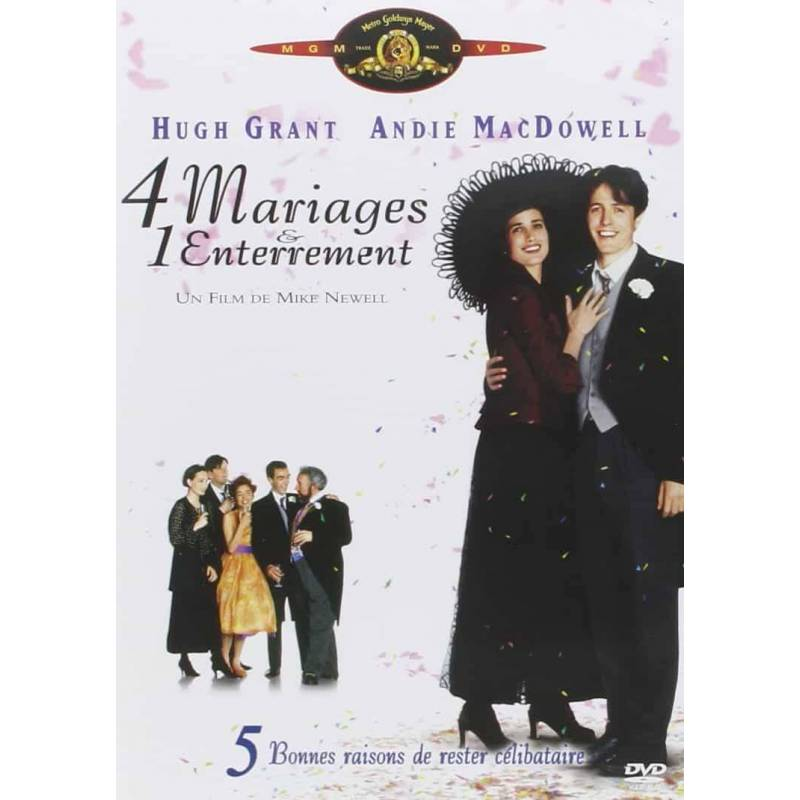 DVD - four weddings and one funeral