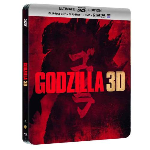 GODZILLA - Steelbook ULTIMATE EDITION - BLU-RAY 3D + BLU-RAY + DVD + DIGITAL