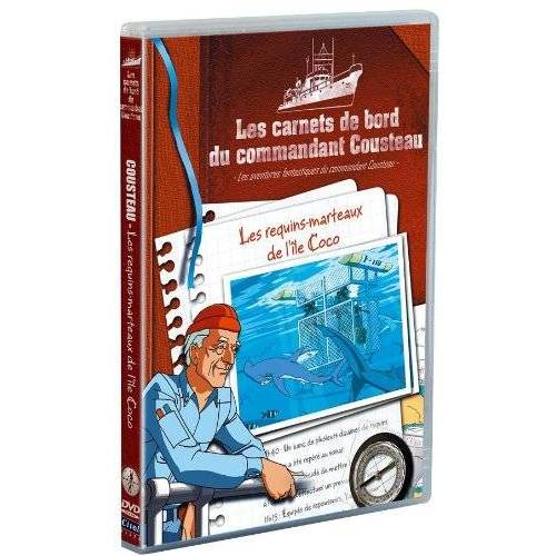 DVD - THE BOOKS ON BOARD THE COMMANDER Cousteau - SHARKS HAMMERS ISLAND COCO
