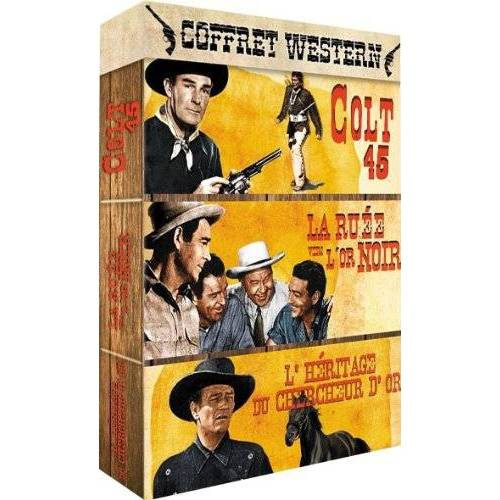 DVD - Western - 3 films Box: Colt 45 + Rush Black Gold + The legacy of the gold digger