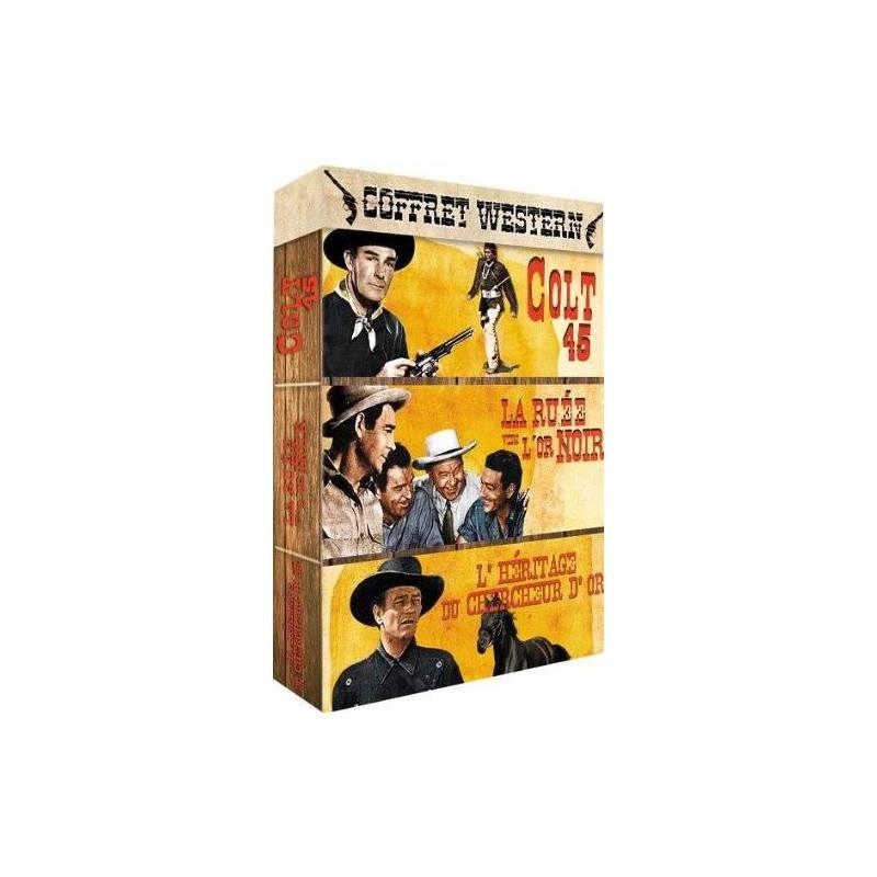 DVD - Western - Coffret 3 films : Colt 45 + La ruée vers l'or noir + L'héritage du chercheur d'or