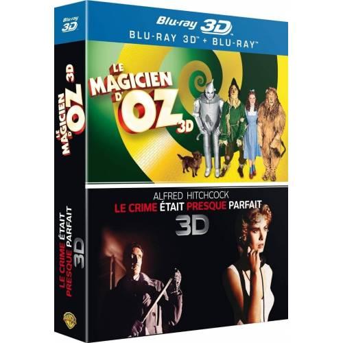 Blu-ray - Le magicien d'Oz 3D et Le crime était presque parfait 3D