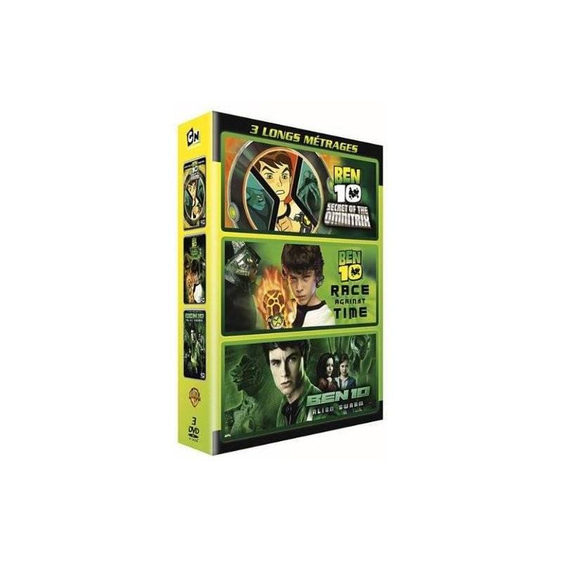 DVD - Ben 10 : 3 longs métrages : Le secret de l'Omnitrix + Course contre la montre + Alien swarm / Coffret 3 DVD