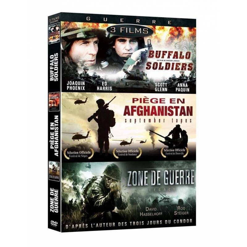 DVD - Guerre - Coffret 3 films : Buffalo Soldiers,September Tapes - Piège en Afghanistan,Zone de guerre - Legacy