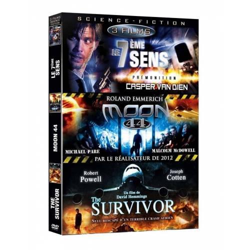 DVD - Science-fiction - Coffret 3 films : Prémonition, Moon 44, Le survivant d'un monde parallèle