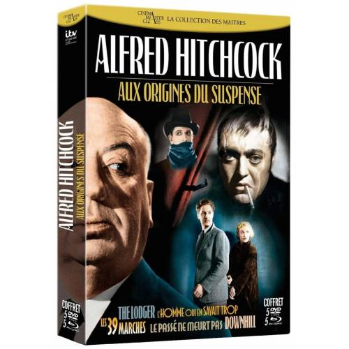 Blu-ray - Coffret Alfred Hitchcock : Aux origines du suspens (Combo 5 Blu-ray 5 DVD)