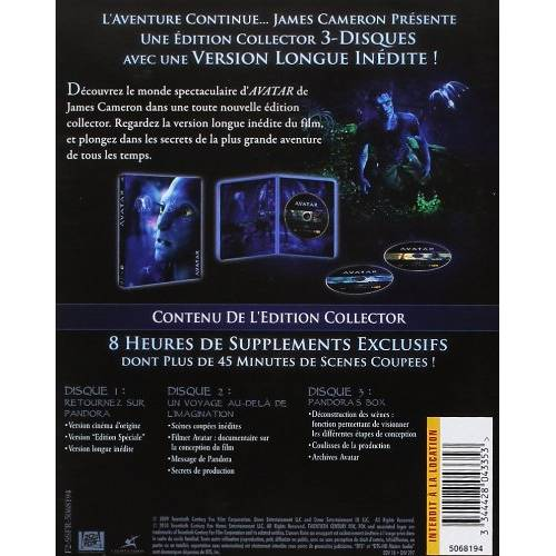 Blu-ray - Avatar - Version longue / 3 Blu-ray