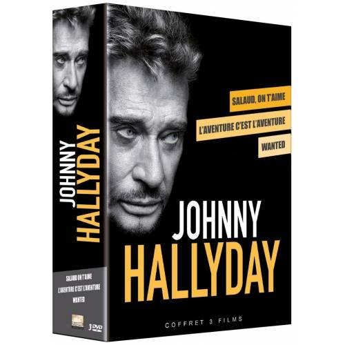 DVD - Johnny Hallyday, un acteur de légende : Wanted , L'aventure c'est l'aventure , Salaud on t'aime