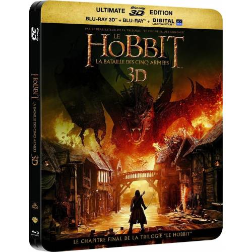 THE HOBBIT: THE BATTLE OF THE FIVE ARMED [COMBO BLU-RAY 3D + BLU-RAY + DIGITAL COPY - EDITION BOX Steelbook]