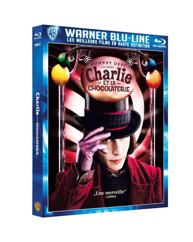 Blu-ray - Charlie et la chocolaterie - Tim Burton - Johnny Depp - Freddie  Highmore - Promo - New