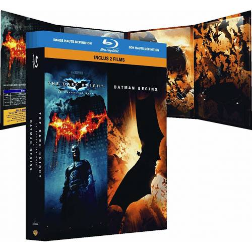 The Dark Knight, le chevalier noir - Batman Begins : coffret 2 Blu-ray