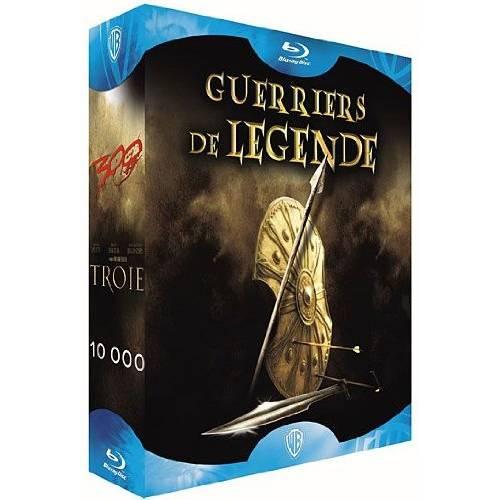 Coffret guerriers de légende - 300 et 10 000 et Troie [Blu-ray]