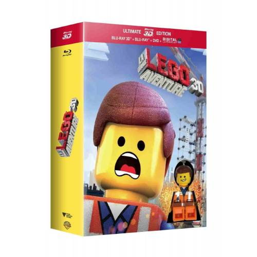 Blu-ray - The Great Lego adventure - Ultimate Edition limited light keychain