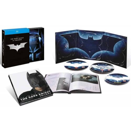 BATMAN - LA TRILOGIE - BATMAN BEGINS, THE DARK KNIGHT - THE DARK KNIGHT RISES - 5 BLU-RAY + 1 LIVRET